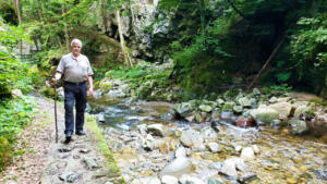 Walking in a gorge on a really hot day near Celje, Slovenia