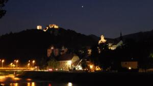 Night view from near our camper in Celje, Slovenia