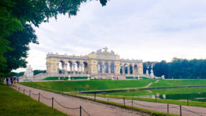 Sunday brunch at the Gloriette, built in  1775 on a hill at Schönbrunn Palace