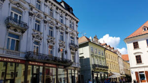 Some stores on the Main Square in Bratislava
