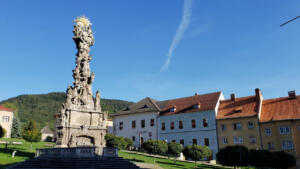 Plague Column in Kremnica, Slovakia built in the 1700s