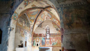 Paintings from 1330 - 1400 in the Church of St. Giles, Poprad, Slovakia