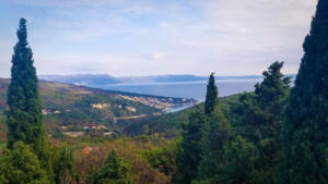 View from Labin on the east coast of Istria