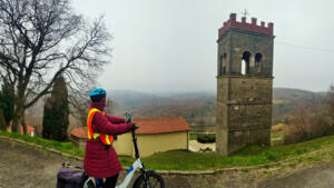 Biking near Krasica in the cool and damp but still great to get out.