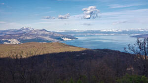 Rijeka in distance, tip of Cres Island on right