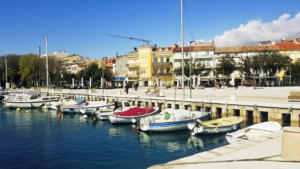 Crikvenica, lovely town just south of Rijeka on the mainland.