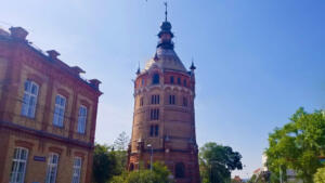 Favoriten Water Tower built in 1898 in Vienna suburbs. Now used for exhibitions.