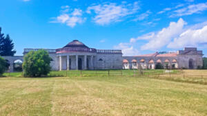 Nový dvůr or New Court.  Part of Chateau Lednice complex in Czechia