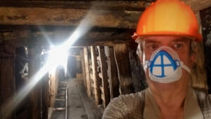 Mike touring mining museum at our campground in Ostrava, CZ