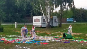 Great fireworks for kids in Olomouc campground, Czechia