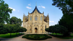 Front of St. Barbara's Church in Kutná Hora