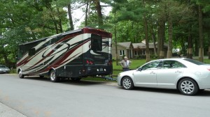 RV with Car in tow